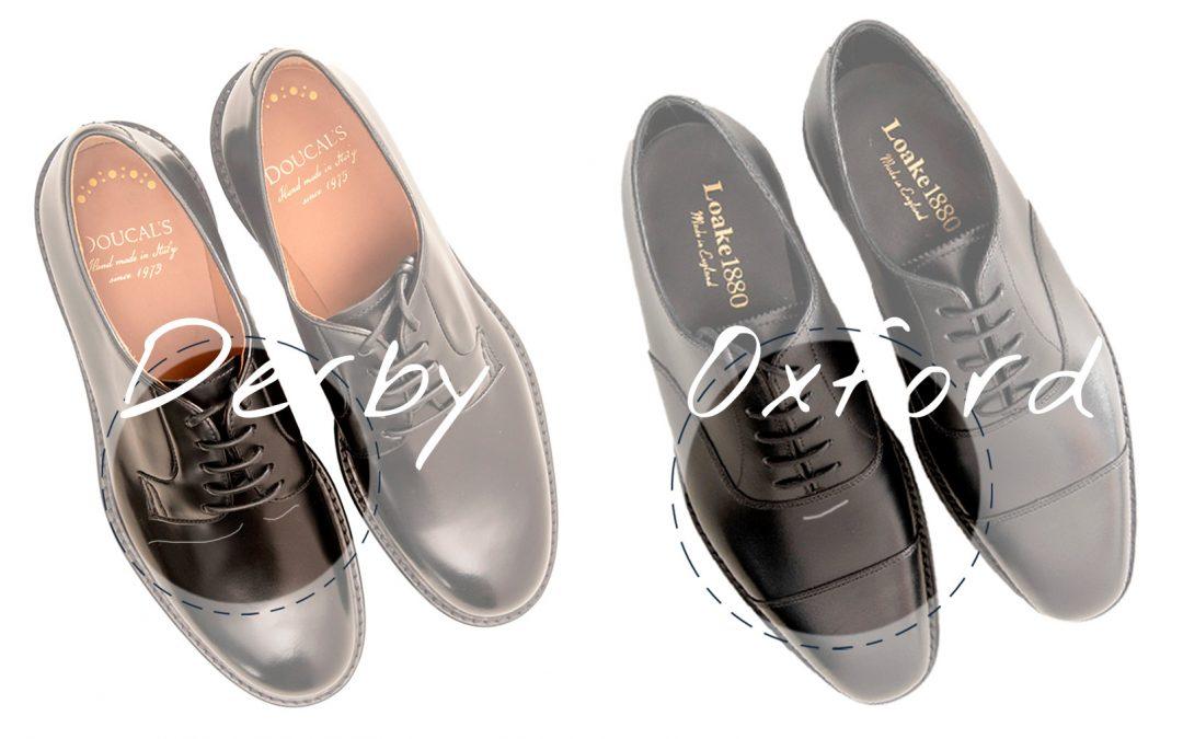 Differenze tra scarpe Derby o Oxford: guida alla scelta